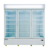 """Empura EGM-75W 78.2"""" White Swinging Glass Door Merchandiser Refrigerator With 3 Doors, 75 Cubic Ft, 115 Volts"""