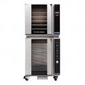 """Moffat E32T5/P8M 28-7/8"""" Turbofan Full-Size Touch Screen/Electric Convection Oven With Porcelain Oven Chamber On P8M 8 Tray Proofer/Holding Cabinet, 208V or 220-240V"""