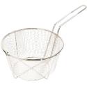 "Empura BFW-950 9 1/2"" Round Nickel Plated Fry Basket"