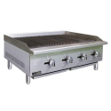 "Empura E-ECTC-48/NG 48"" Countertop Radiant Heat Charbroiler with Manual Controls - 120,000 BTU"
