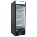 "Empura E-EGM-23FB Black 26 4/5"" Wide 1-Section Insulated Triple-Pane Self-Closing Glass Door Freezer Merchandiser, 115V"