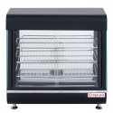 "Empura E-HD-26 26"" Self Service 3 Shelf Countertop Heated Display Warmer with Sliding Doors - 110V, 1500W"