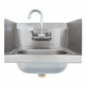"Empura E-HS15SPWF 15"" Stainless Steel Hand Sink with Side Splashes"