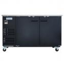 """Empura E-KBB702B Black Solid Door 27"""" Deep Back Bar Cooler - 69"""" Wide"""