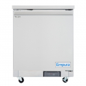"Empura E-KUC27F 28.9"" Stainless Steel Undercounter Freezer With 1 Door - 5.4 Cu Ft, 115 Volts"