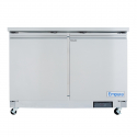 """Empura E-KUC48F 48.2"""" Stainless Steel Undercounter Freezer With 2 Doors - 10.1 Cu Ft, 115 Volts"""