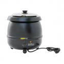 Empura E-SK-600 11 Qt. Round Black Countertop Food / Soup Kettle Warmer - 120V, 400W