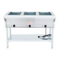 Empura E-ST-120/3 3 Pan Electric Steam Table with Undershelf - Open Well - 120V