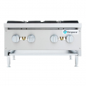 "Empura EMHP4-HD 24"" Stainless Steel Heavy Duty Gas Hot Plate With 4 Burners, 106,000 BTU"