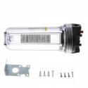 """Everpure EV910001 10"""" Clear A-10 Filter Housing 5.0 GPM Flow Rate"""