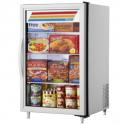 "True GDM-07F-HC~TSL01 24 1/8"" White Countertop Glass Door Freezer Merchandiser with LED Interior Lighting - 115V"
